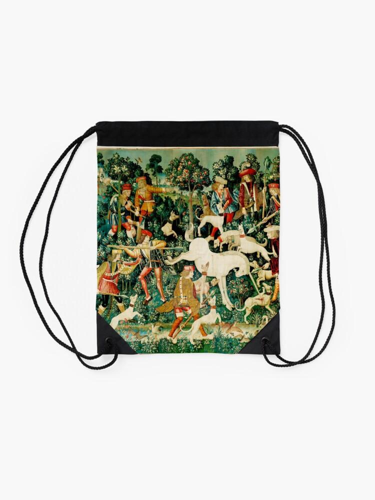 Vista alternativa de Mochila saco HD El unicornio es atacado (1495)