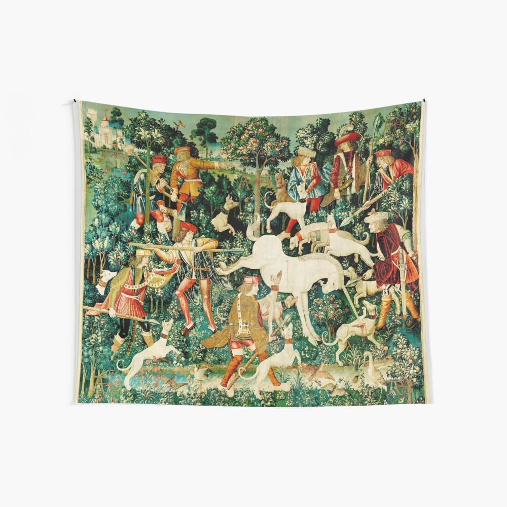 HD El unicornio es atacado (1495) Tela decorativa