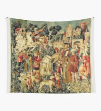 HD The Unicorn is Killed and Brought to the Castle (1495) Wall Tapestry