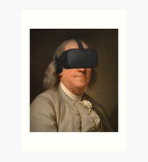 Benjamin Franklin VR Art Print