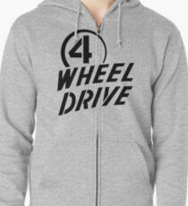 4 Wheel Drive! Zipped Hoodie