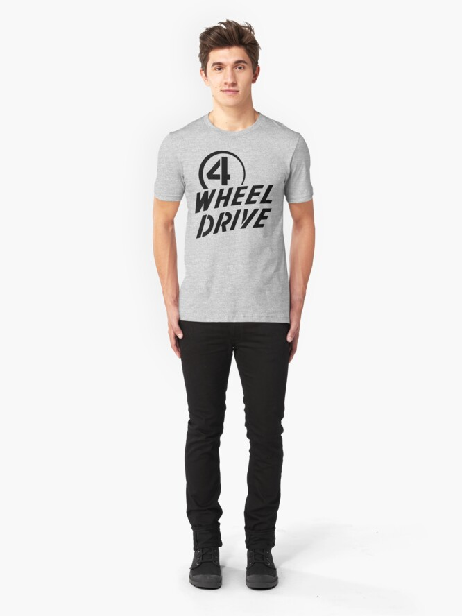 Alternate view of 4 Wheel Drive! Slim Fit T-Shirt