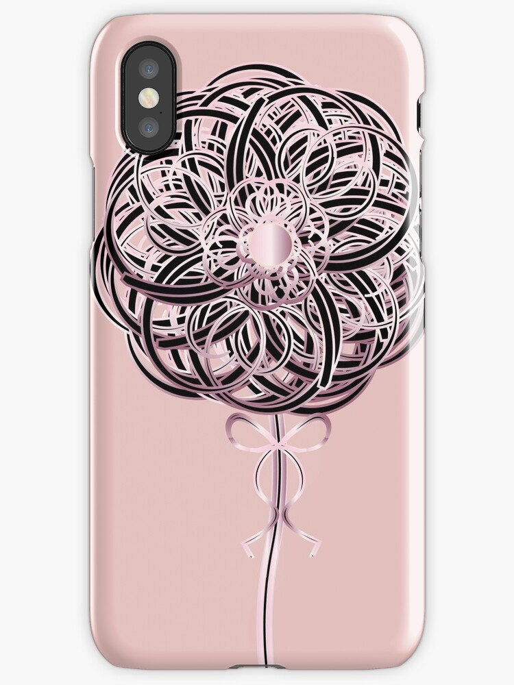 Pink Ribbon Rose Art Deco Blooming by CecelyBloom