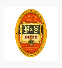 F AND S BEER BREWERY VINTAGE BEER COMPANY Photographic Print