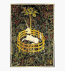 HD The Unicorn in Captivity  (1494 aprox) Photographic Print