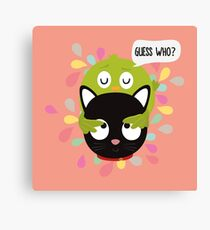 Bird and Cat Guess Who R3z9i Canvas Print