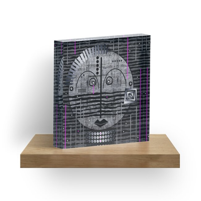 Tribal Whimsy 17 - Acrylic Block by Glen Allison
