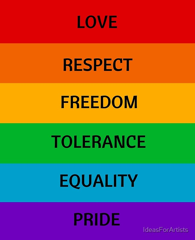Quot Pride Flag Love Respect Freedom Tolerance Equality