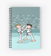 Spectacular black belt karate tournament Spiral Notebook
