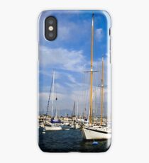 Sailboats - Newport Beach Harbor iPhone Case/Skin