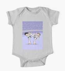 Karate two boys in full combat of strength Kids Clothes
