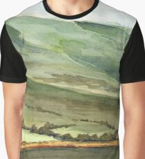 Scottish Hills Landscape Graphic T-Shirt