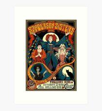 Sanderson Sisters Tour Poster Art Print