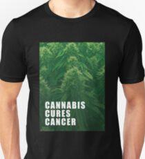Cannabis cures cancer Unisex T-Shirt