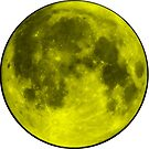 Neon Yellow Moon by amdevine