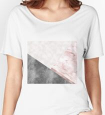 Rose grunge - geo layers II Women's Relaxed Fit T-Shirt