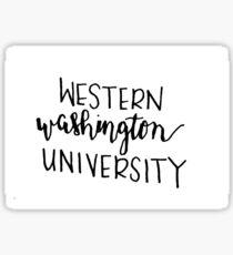 WWU Sticker