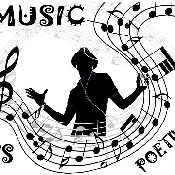 T-Shirt Music is poetry  by Eduardo-Theo