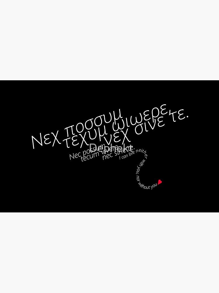"""No puedo vivir ni contigo ni sin ti"". -Uta, Tokyo Ghoul de Dephekt"