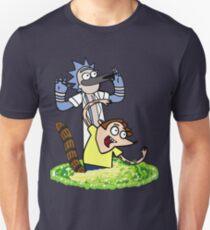 Rick and Morty X Regular Show Mash up T-Shirt
