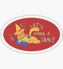 Garfield The Deals Warlock Sticker
