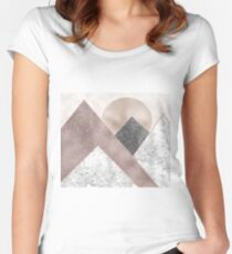 Rose grunge - mountains II Women's Fitted Scoop T-Shirt