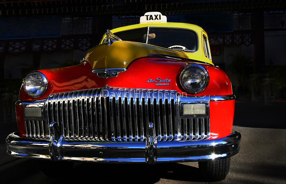 Yellow & Red Cab by David Hutcheson