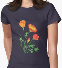 Colorful Poppies in the field T-Shirt