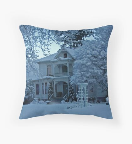 A BLANKET OF SNOW Throw Pillow