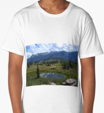 Lily pond with a view Long T-Shirt