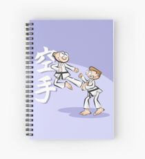 Karate boy jumps spectacularly Spiral Notebook