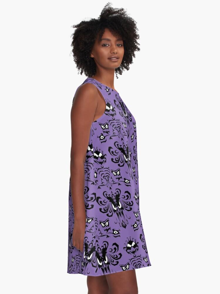 Alternative Ansicht von 999 glückliche Spukplätze A-Linien Kleid