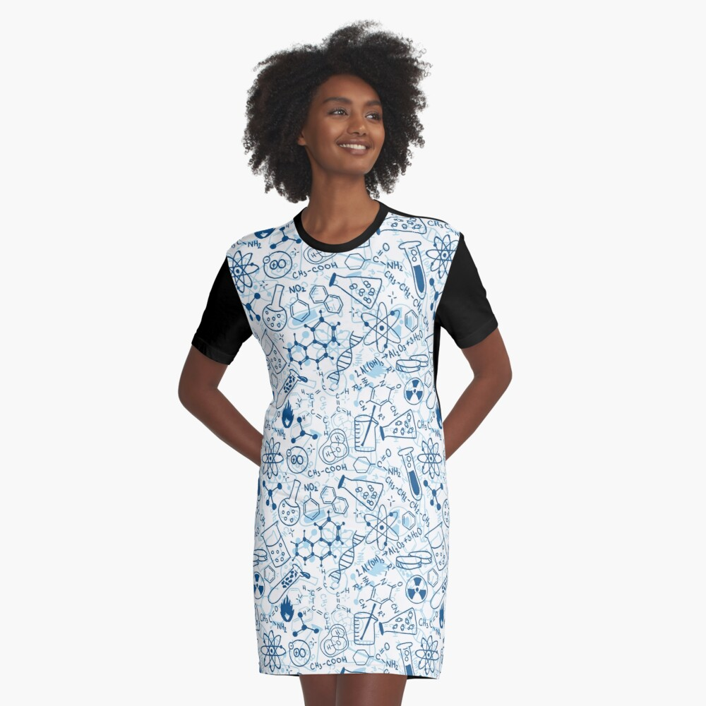 Chemistry Graphic T-Shirt Dress