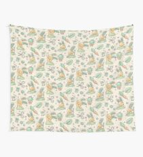 Sewing Bunnies - Yellow Wall Tapestry