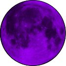 Neon Purple Moon by amdevine
