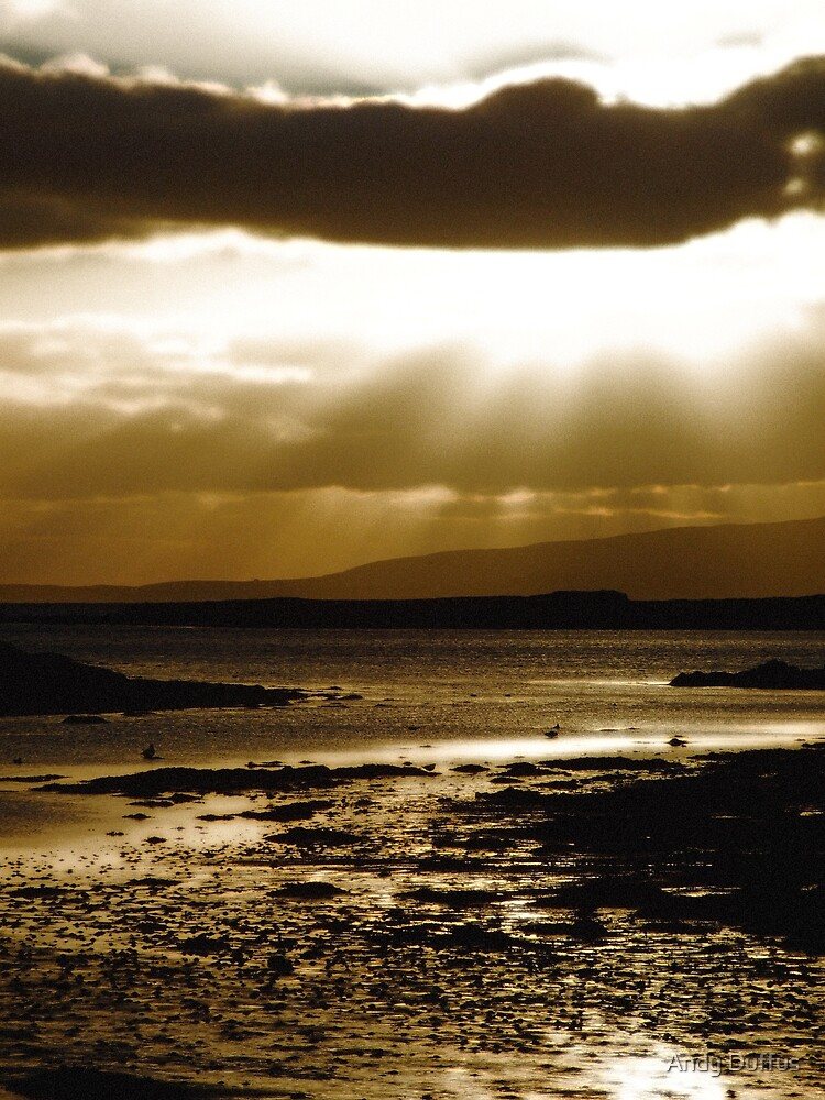 Sunset over Leirness Voe by Andy Duffus