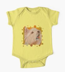 Cute West Highland White Terrier Portrait Vector One Piece - Short Sleeve