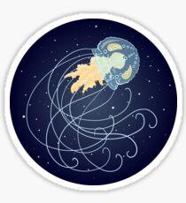 Cool Cosmic Jellyfish Custom Sticker