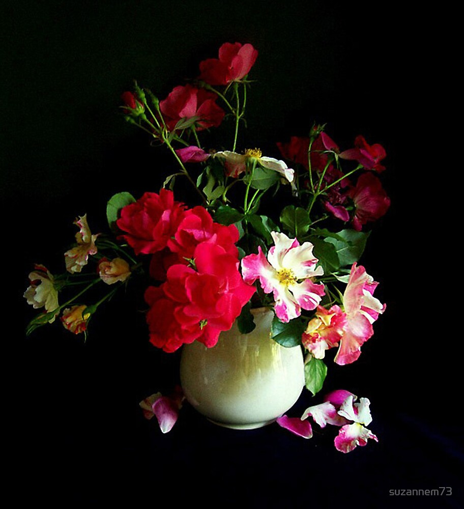 Antique Pitcher with Roses by suzannem73