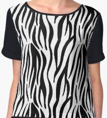 Zebra Stripes Women's Chiffon Top