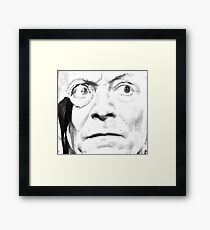 1st Doctor Close Up Sketch Framed Print