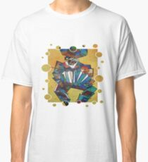 Cubist Style Accordion Player Vector Classic T-Shirt