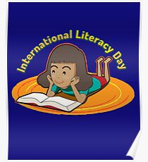 Book Lover Gift International Literacy Day  Poster