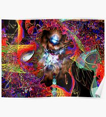 Three Layer Blender #3: Jewel of Denial abstract (UF0366) Poster