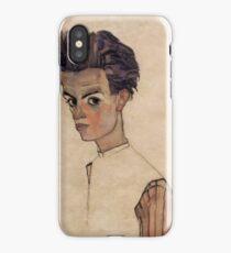 Self-portrait 1910 Egon Schiele iPhone Case/Skin