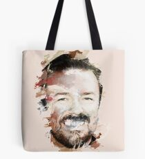 Paint-Stroked Portrait of Actor and Comedian, Ricky Gervais Tote Bag