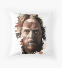 Paint-Stroked Portrait of Musician and Comedian, Tim Minchin Throw Pillow