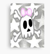 Halloween  Kawaii skull  Canvas Print