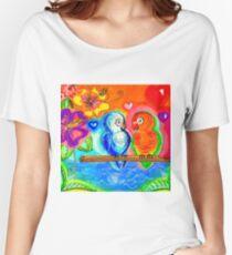 Lovebird Lagoon Women's Relaxed Fit T-Shirt