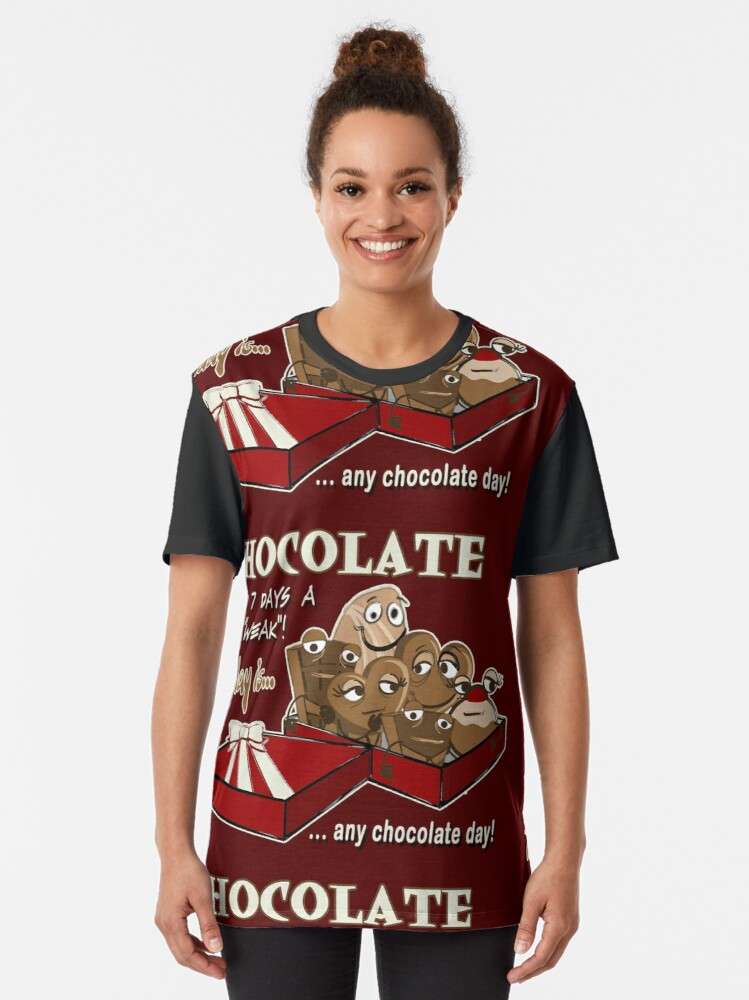 Alternate view of Chocolate - Thursday is any chocolate day Graphic T-Shirt
